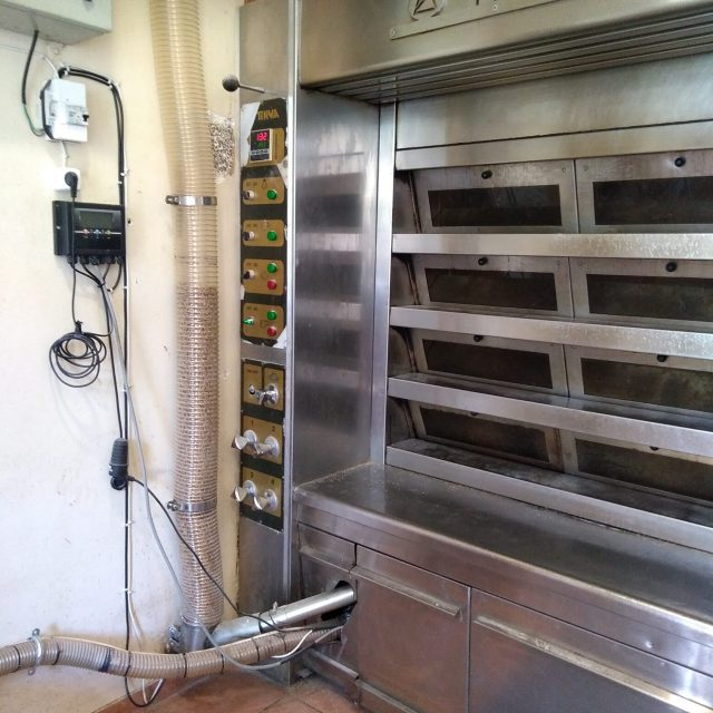 Μετατροπή καυστήρα πετρελαίου σε καυστήρα πέλλετ σε φούρνο
